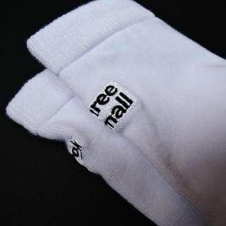 🉑設計款刺繡白色長襪子 (可換物) #好物任你換