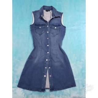 BARDOT Denim Soho Denim Dress Vintage (Size 8)