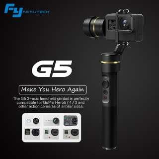 Feiyu G5 Handheld Gimbal for Gopro HERO4 / HERO5 / HERO6 New Version! Free GP 5200Mah Powerbank (worth $49)! 18 Mths Local warranty!