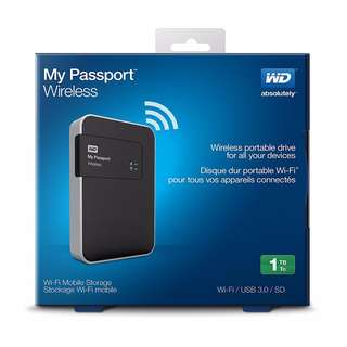 WD 1TB My Passport Wireless Portable External Hard Drive