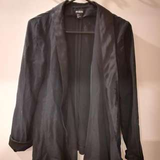Black And Loose Blaser Jacket