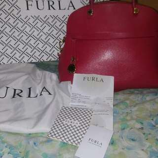 Authentic Furla Piper Ruby