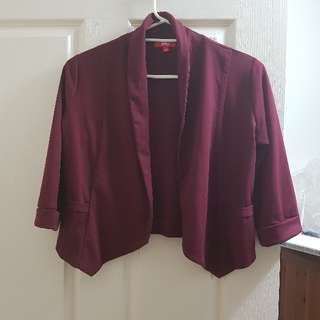 Maroon Cropped Jacket