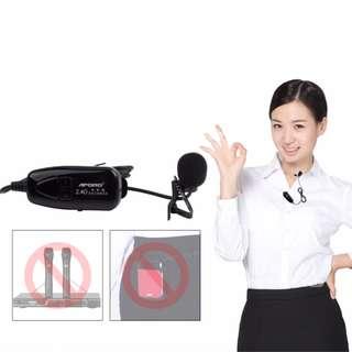 2.4G Wireless Wifi Microphone Lapel Collar Shirt Lavalier Mic (Teacher, lecturer, tour guide, speaker)