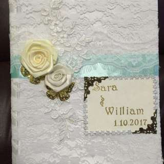 Tailor Made DIY Wedding Certificate Holder 全人手製作獨一無二全Lace結婚証書套