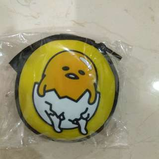 Brand New Gudetama Coin And Earphones Pouch