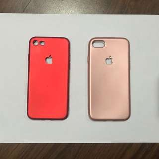 Soft Jelly Case RED and ROSE GOLD