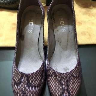 Snake Akin Pink Shoes