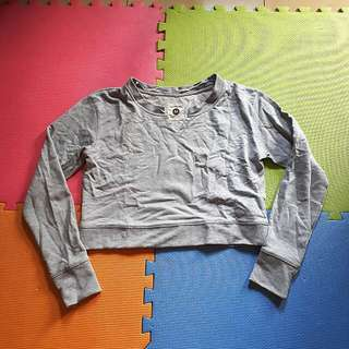 Cotton On Midriff Sweater Grey Size MEDIUM
