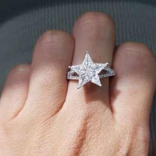 星星D Color 鑽石戒指, VVS1