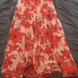 Top Shop Floral Print Maxi Skirt