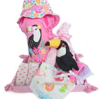 Toucan Paradise Baby Gift Basket - Baby Shower