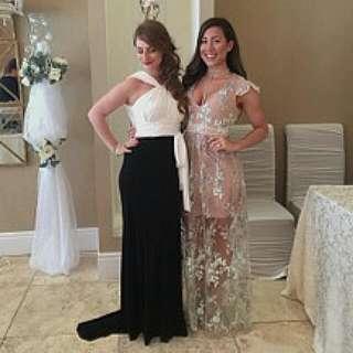 Vera Wang Black & White Dress