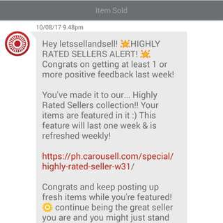 Thank you, team Carousell! :)