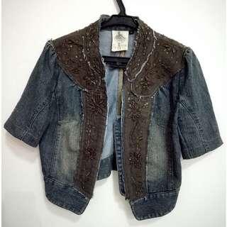 Crop Denim Jacket(size S)