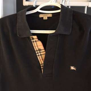 Classic Navy Burberry Polo Size Small