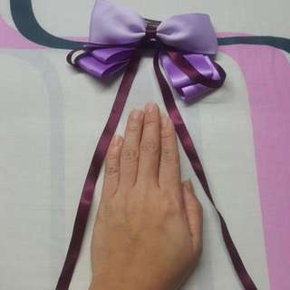 Purple Bow Hair Clip