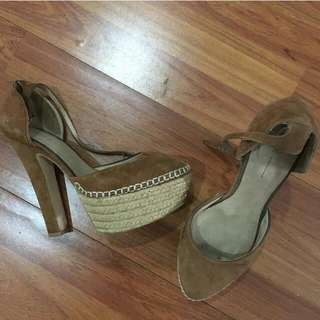 Brown Suede Heels uk.39