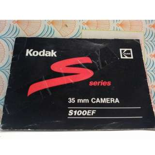 KODAK Series 35mm Camera S100EF Intstructions Manual