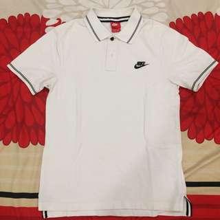 Nike Collar Shirt White Size S