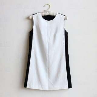 韓國製🇰🇷內裏 黑白正式質感小洋裝