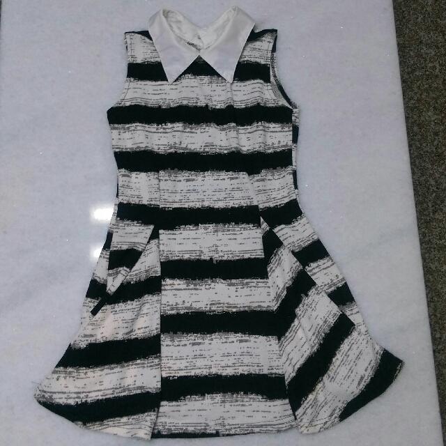 橫條連身洋裝 #我的女裝可超取