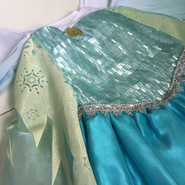 Authentic Disney Store Frozen Costume/ Dress