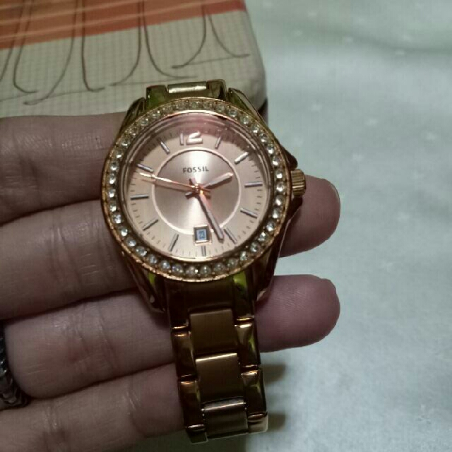 Sale Authentic Fossil Rose Gold Watch