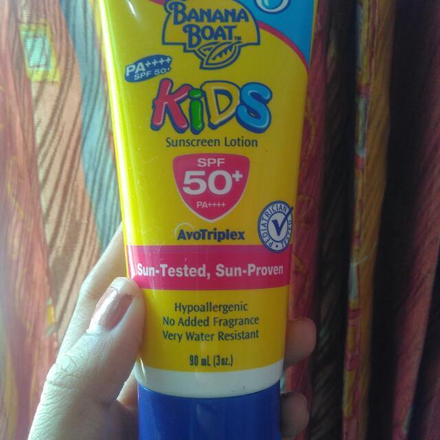 Banana Boat Sunscreen Lotion