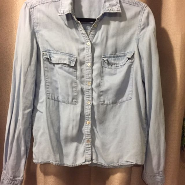 Bardot Denim Shirt Size 8