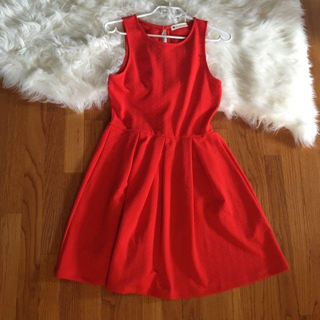 Birdseye Red Dress