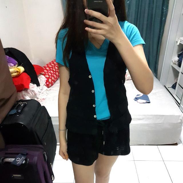 Black Crop Vest