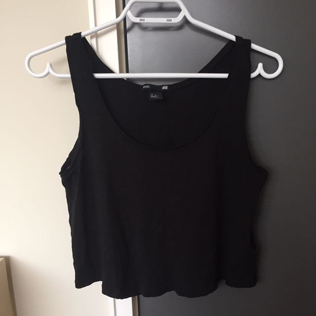 black h&m basic tank top