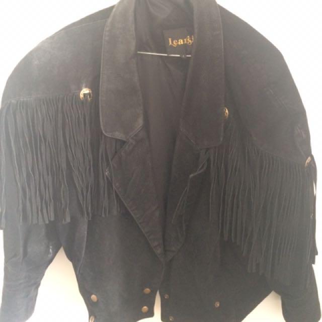 Black Suede Tassel Jacket
