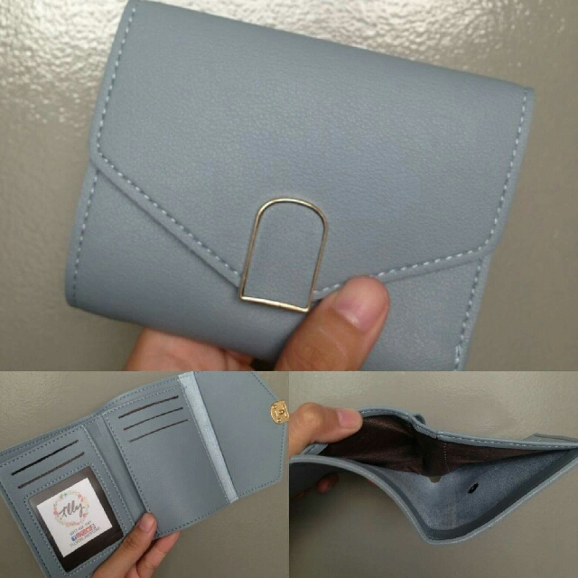Blue Short Wallet Free Shipping For Metro Manila