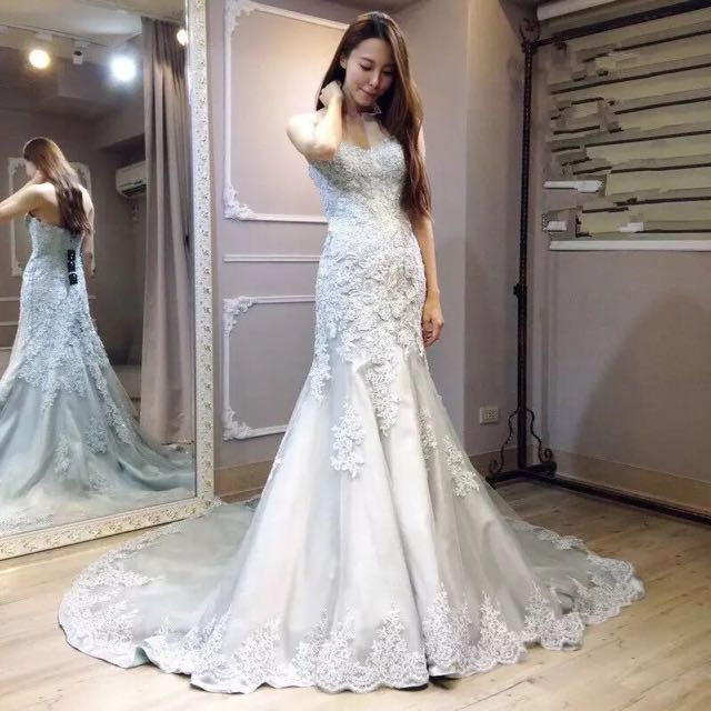 BN Mermaid Cut Wedding Gown W Train, Women\'s Fashion, Clothes ...
