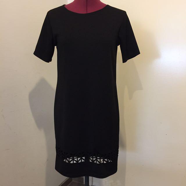 Boohoo Black Tshirt Dress