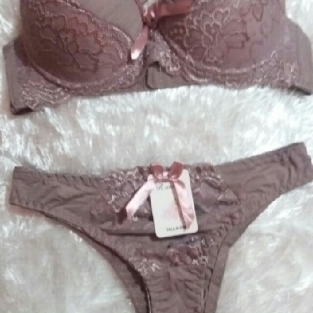 Bra And Panty Set Mocha