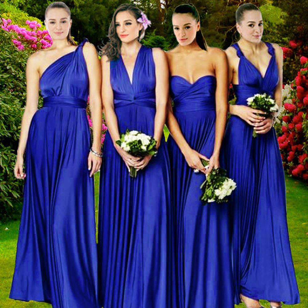 Bridal Salon Convertible Multiway Dress In Cobalt Royal Blue Free Size From Dressabelle Women S Fashion Clothes Dresses Skirts On Carou