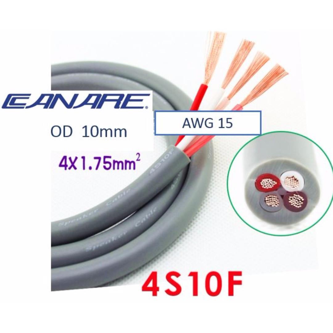 Bulk Speaker Cables#B2- Canare 4S10F 4xAWG15 OD 10mm bi-wire speaker ...