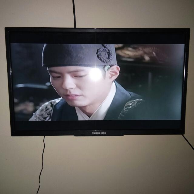 "CHANGCHONG TV 24"" W/ BRACKET"