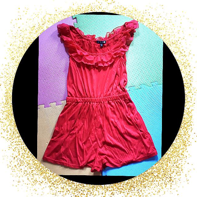 Cotton On Red Jumpshort Size S To M