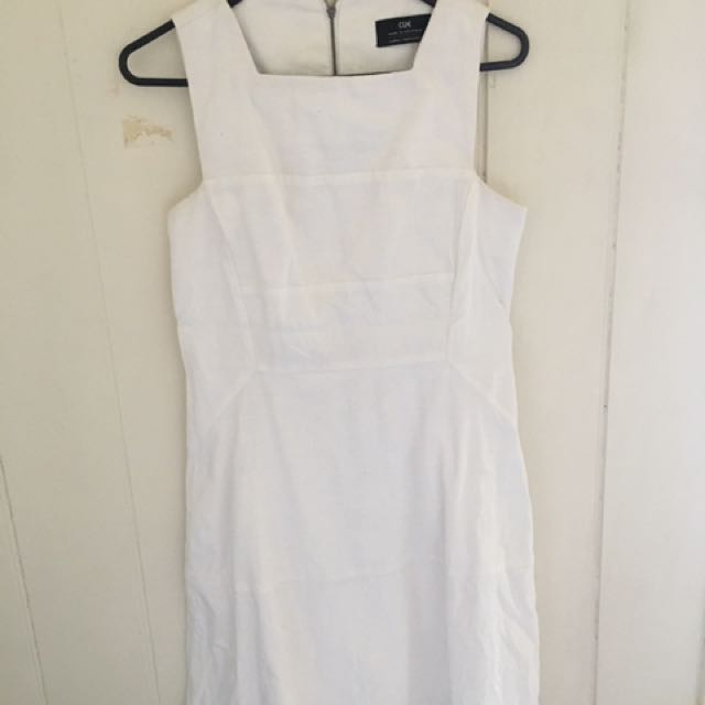 Cue White Dress - Size 8
