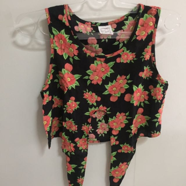 Editor's Market Floral Cropped Top