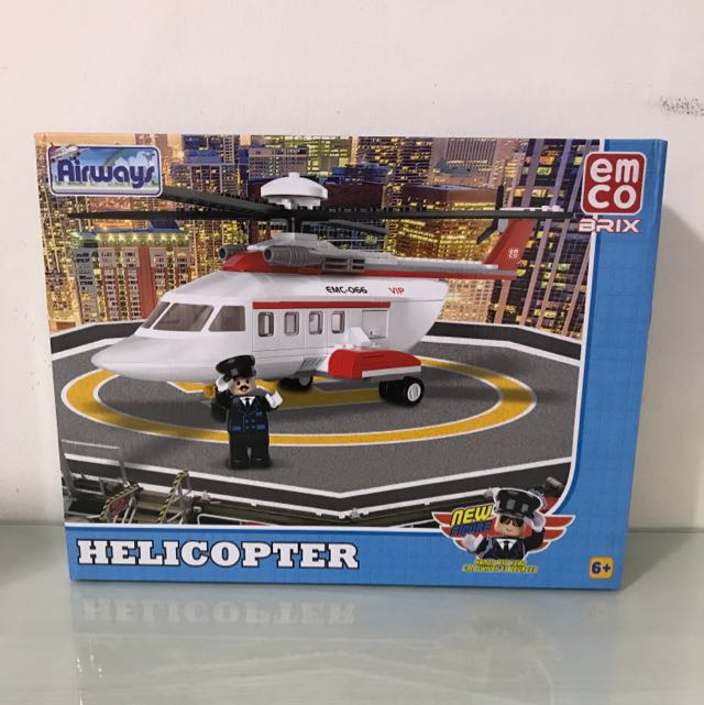Lego Emco Brix Helicopter Babies Kids Toys Walkers On Carousell