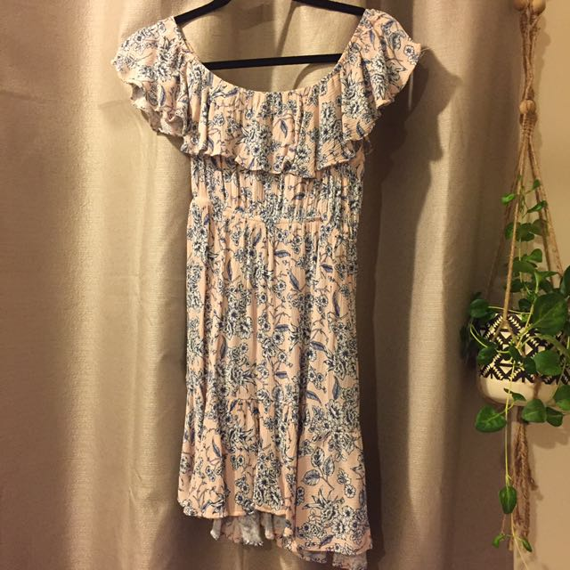 Floral Off Shoulder Boutique Dress 8