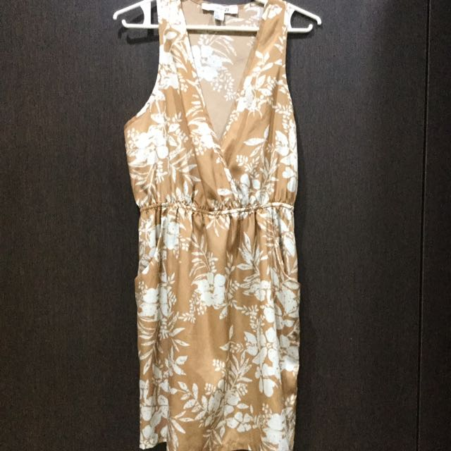 Forever21 Nude Floral Dress