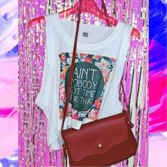 e15d7965b Fudge rock Muscle Tee, Women's Fashion, Clothes, Tops on Carousell