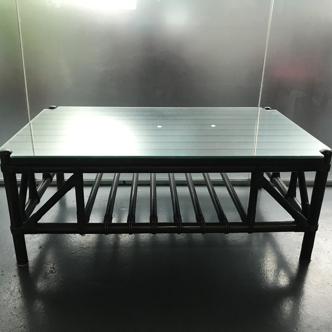 Heirloom Secrets Antique   Cane Coffee Table With Glass Top, Furniture,  Tables U0026 Chairs On Carousell