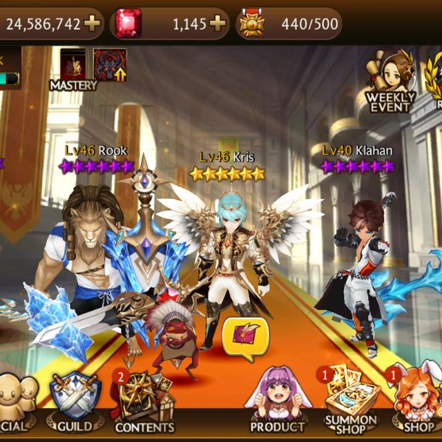 [Discounted] HIGH-TIER Seven Knights Account Arena 4600 for BOTH IOS and  Andriod Users